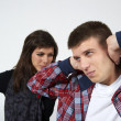 Young couple in state of troubles - Stock Photo