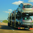 Semi-truck with cars - Foto de Stock