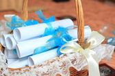Convites de casamento artesanais — Foto Stock