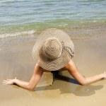 Woman on the beach — Stock Photo #14716489