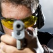 Stock Photo: Mshooting on outdoor shooting range