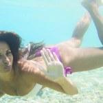 Underwater woman — Stock Photo