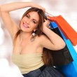A shot of a woman shopping - Stock Photo