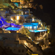 The village of Oia at night on the island of Santorini  — Stock Photo