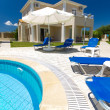 Exterior of a Greek resort — Stock Photo