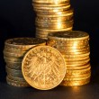 Stock Photo: Germgold coins.