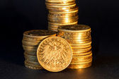 German gold coins. — Stock Photo