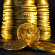 American gold coins. — Stock Photo