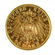 Stock Photo: Germgold coin isolated
