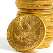 American gold coins. - Stock Photo