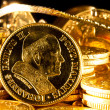 John Paul II coin with Jewels and gold coins — Stock Photo