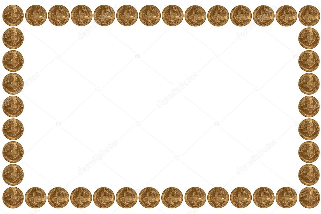 Gold Coins Frame Stock Photo 17343443