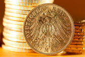 Twenty Deutsch Mark coins — Stock Photo