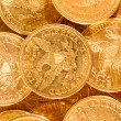 Five Dollars gold coins - Stock Photo