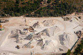 Aerial view of a worksite — Stock Photo