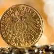 Stock Photo: Twenty Deutsch Mark coins