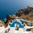 Stock Photo: church in santorini greece