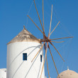 Santorini windmill Greece - Stock Photo