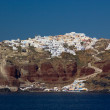 View on Oia in Santorini — Foto Stock