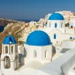 Stock Photo: Dome church in Santorini Greece