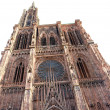 Cathedral of Strasbourg in Alsace - Stock Photo