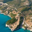 Stock Photo: Island of Zakynthos Greece from air
