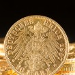 Twenty Deutsch Mark coins - Foto de Stock
