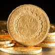 Twenty French Francs coins - Foto de Stock