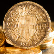 Twenty Swiss Francs coins - Photo