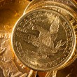 Five Dollars gold coins - Stock fotografie