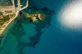 Ostrov zakynthos řecko ze vzduchu — Stock fotografie