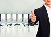 A business man with thumb up — Stock Photo