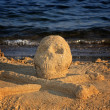 Sand skull and bones — Stock Photo