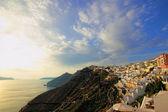 View of Fira town - Santorini — Stock Photo