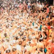 The famous Zante foam party - Stock Photo