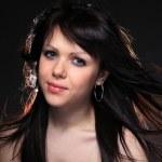 Young brunette woman beauty portrait — Stock Photo #18558125