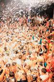 The famous Zante foam party — Stock Photo