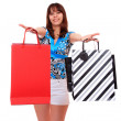 Stock Photo: Lovely woman with shopping bags