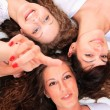 Group of happy pretty laughing girls - Stock Photo