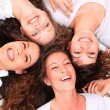Group of happy pretty laughing girls — Stock Photo #18565405