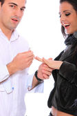 A man proposing marriage — Stock Photo