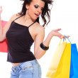 Stock Photo: Sexy shopping girl