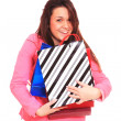 Lovely woman with shopping bags - Stok fotoraf
