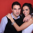 Portrait of romantic young couple - Stok fotoraf