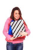 Lovely woman with shopping bags — Stockfoto