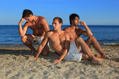 Men Relaxing On the Beach — Stock Photo