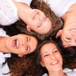 Stock Photo: Group of happy pretty laughing girls