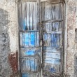 Stock Photo: Old door on Santorini island