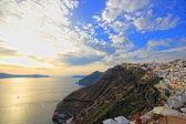 Santorini sunset Greece — Stock Photo