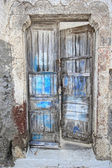 Old door on Santorini island — Stock Photo